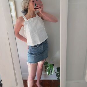 Urban Outfitters Open Back cropped Ruffle Tank
